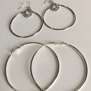 Hoop Earrings Bundle - 2 Pairs